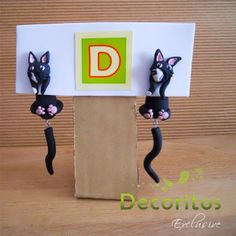 Earrings cat 3D