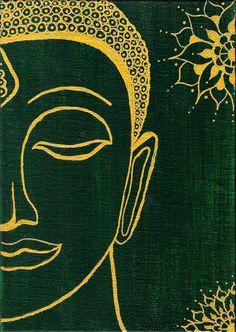 Buddha Drawing, Buddha Painting, Buddha Art, Buddha Buddhism, Arte Hippy, Pottery Painting Designs, Art Drawings For Kids, Indian Art Paintings, Simple Acrylic Paintings