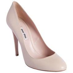 Nude heels from Miu Miu #BarneysNY
