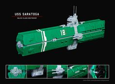 USS Saratoga by Red Spacecat, via Flickr