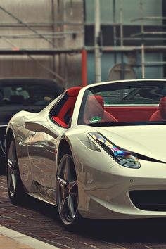 White car 458 Spyder