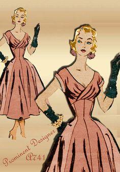 Patrons de couture des années 1950.Ces tailles fines ceintrées dans des corsets efficaces. les femmes avaient des tailles de guêpe