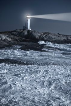 Peggy's Cove Lighthouse - Nova Scotia A welcome sight on a cold blustery storm tossed sea. Saint Mathieu, Lighthouse Keeper, Lighthouse Storm, Lighthouse Pictures, Lower Lights, Atlantic Canada, Beacon Of Light, Nova Scotia, Belle Photo