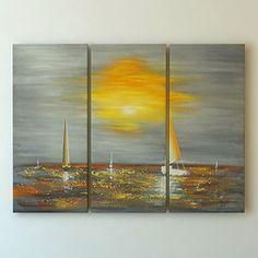 """Sunset"" Landscape Wall Art By Gefii Ready to Hang gefii http://www.amazon.com/dp/B00Q2JIFX2/ref=cm_sw_r_pi_dp_zMLEvb1VNK9NS"