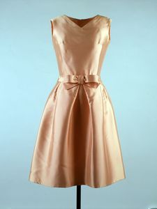 Cocktail dress, 1962, Oleg Cassini. Worn by Jacqueline Kennedy. John F. Kennedy Museum Collection
