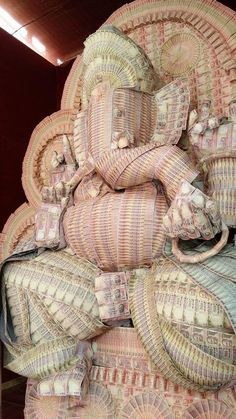 Ganesha idol made of Indian currency
