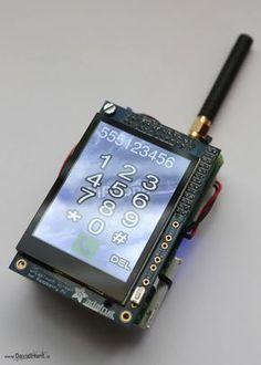 Build your own Linux-powered cell phone with this awesome Raspberry Pi phone project! Make and receive calls from a Raspberry Pi using the FONA GSM cell phone module and a PiTFT display. The best part of this phone is that you can customize it just how yo Linux, Diy Electronics, Electronics Projects, Projets Raspberry Pi, Life Hacks Diy, Raspberry Projects, Rasberry Pi, Electrical Projects, Best Phone