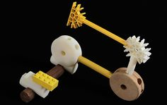 Free downloadable kit for 3D printing adapters to connect Lego, K'Nex, Lincoln Logs, and other construction toys