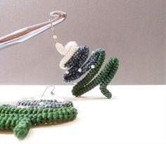Snowy Pines Crochet Tube Winter Earrings Christmas in July