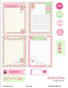Free Project Life Journaling Cards | Free Printable Download – Whimsical Project Life Journaling Cards ...
