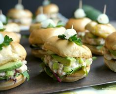 California Avocado and Bay Shrimp Sliders from The Noble Pig