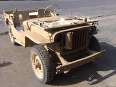 1943 GPW jeep in early restoration days 2008