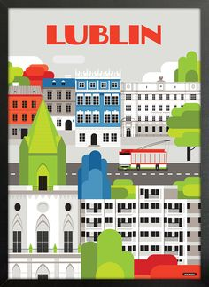 Lublin - wall-being Art Deco Posters, Vintage Posters, Art Deco Period, Europe, Vintage Travel, Retro, Den, Tiny House, Polish