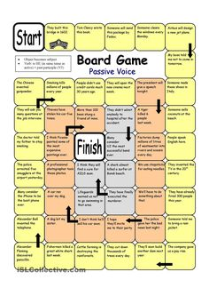Board Game - Passive Voice worksheet - Free ESL printable worksheets made by teachers