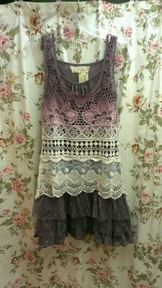 Slip dress and lace top overlay