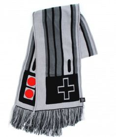 NES Scarf - this would be super hard to do, but it looks awesome Geek Gear, Nerd Geek, Geeks, Estilo Geek, Mario, Nerd Fashion, Zelda, Gaming, Smosh
