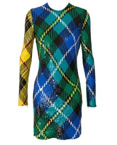 Ashish sequin plaid dress