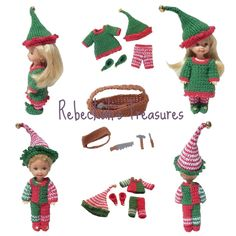 Crochet Elves Kelly and Tommy by Rebeckah's Treasures