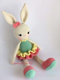 Knitted Dolls, Crochet Dolls, Amigurumi For Beginners, Crochet With Cotton Yarn, Bunny Toys, Weaving Projects, Crochet Bunny, Amigurumi Toys, Easy Crochet Patterns