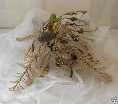 Antique-French-wax-wedding-bunch-of-flowers-Large