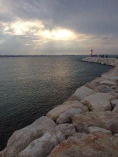faro, Rimini beach
