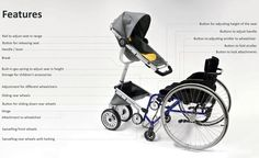 """lickystickypickywe: """" I love when people think up clever stuff: Wheelchair Adaptive Stroller. Parenting in the first stages of infancy can be incredibly challenging – add a mobile disability to the. Babies R Us, Baby Kids, Adaptive Equipment, Baby Diaper Bags, Infancy, Hospital Bag, Welcome Baby, Toddler Toys, Disability"""