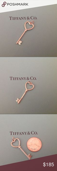 Tiffany & Co Heart Twist Key Pendant Authentic sterling silver Tiffany heart twist key pendant.  This key is in new condition and comes with box and pouch. NO TRADES Tiffany & Co. Jewelry Necklaces