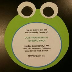 Frog Prince Party DIY Invitation