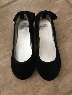 Gymboree Black Velvet Ballet Flats For Little Girls Size 10  | eBay