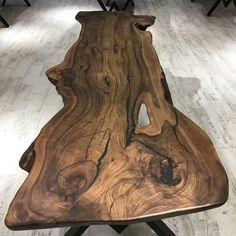 Natural Furniture, Resin Furniture, Log Furniture, Wood Slab Dining Table, Walnut Table, Wooden Tables, Wood Sample, Reclaimed Wood Art, Live Edge Wood