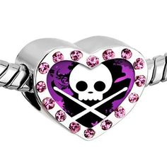 Pugster Pink Swarovski Crystal Gold Plated Music Theme Skull Music Photo Heart European Bead Bracelets Heart Silver Plated Beads Fits Pandora Charm Chamilia Biagi Bracelet Pugster, http://www.amazon.com/dp/B00A211754/ref=cm_sw_r_pi_dp_DEwNqb1DGT8QH