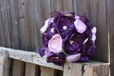 @Laura Savoy and @Michelle Savoy.  Handmade Wedding Bridal Bouquet made to order in by ProjectU, $120.00