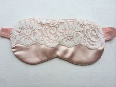 Sleep Masks - Bridesmaid gift to match their pink satin Linea Donatella robes.