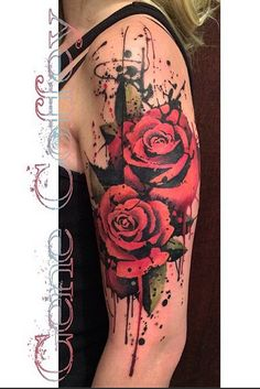Done by Gene Coffey in Brooklyn. In honor of my Nanny & Popop's rose bush. Submit Your Tattoo Here: Tattoos.org
