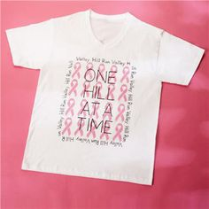 One Hill at a Time Breast Cancer Awareness Shirt by Tulip®