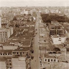 Descrição: Rua Duque de Caxias em obras (de alargamento?) - ao fundo a direita a praca Princesa Isabel / São Paulo do Passado