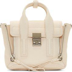 •Website: http://www.cuteandstylishbags.com/portfolio/3-1-phillip-lim-cream-leather-mini-pashli-satchel/ •Bag: 3.1 Phillip Lim Cream Leather Mini Pashli Satchel Off White Bag, White Bags, Leather Satchel Handbags, Leather Purses, Satchel Mini, Satchel Bag, Crossbody Bag, 3.1 Phillip Lim, Pink Leather