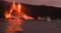 Tour boat captures spectacular images of Big Island lava - Hawaii News Now - KGMB and KHNL#.UL62E4Y1wck.facebook#.UL62E4Y1wck.facebook