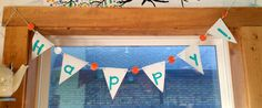 Make your own set of pendant flags from recycled vinyl at $15 at CRAFT.