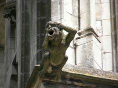 Gargoyle, Tours Cathedrale, France