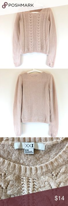 052075631da0 Shop Women s Forever 21 size M Crew   Scoop Necks at a discounted price at  Poshmark. Description  Beautiful sweater forever Size m.