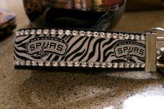 San Antonio Spurs Bling Key wristlet