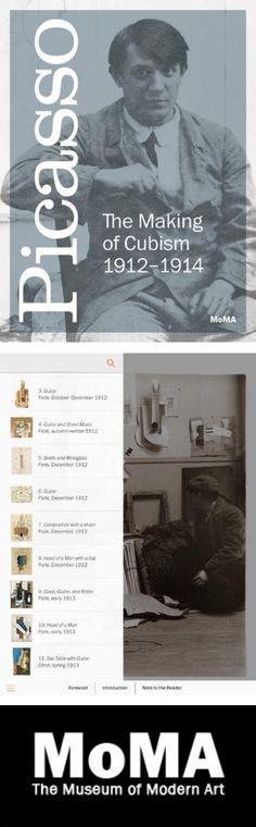Picasso: The Making of Cubism 1912-1914. App que tiene vistas interactivas de 360º de esculturas con rayos X, ultravioleta, infrarrojos, nuevas fotos de Picasso encontradas recientemente en su estudio y en su intimidad, ensayos sobre su obra y vídeos, lo que la presenta como una experiencia multimedia que referencia sobre la obra de Picasso entre los años 1912-1914.