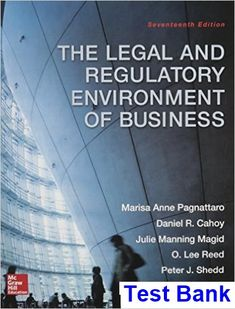 50 best test bank download images on pinterest manual textbook test bank for legal and regulatory environment of business 17th edition by pagnattaro fandeluxe Images