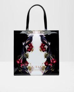 af6d69eeb Bejewelled Shadows large shopper bag - Black
