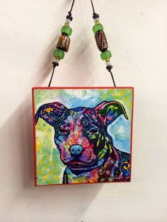 2014 DEAN RUSSO SIGNED LTD EDITION HOLIDAY ORNAMENT 175/1000. pit bull puppy #Miniature