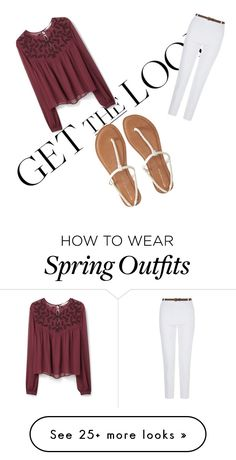 """A cute spring outfit"" by j2jballard on Polyvore featuring MANGO and Aéropostale"