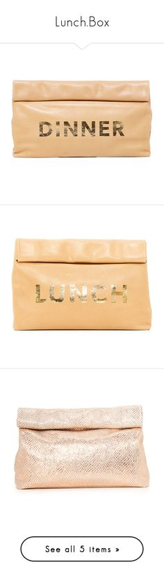 """Lunch.Box"" by falconry ❤ liked on Polyvore featuring bags, handbags, clutches, washed brown, real leather purses, brown leather handbags, leather handbags, beige leather handbags, 100 leather handbags and real leather handbags"