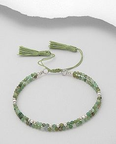 Best 12 Featuring an adjustable bracelet decorated with Jade Semi gemstones strung on a polyester thread. – Dimensions: Bracelet Length( Adjustable from 15 exp. to Please also note that, although e Sea Glass Jewelry, Gemstone Jewelry, Beaded Jewelry, Tassel Bracelet, Bracelet Crafts, Bracelets Fins, Jewelry Bracelets, Homemade Jewelry, Diy Schmuck