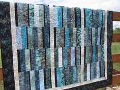 Batik Handmade Quilt in Ocean Colors Batik Quilts, Lap Quilts, Quilt Binding, Quilt Stitching, Coastal Quilts, Colorful Quilts, Floral Quilts, History Of Quilting, Homemade Quilts